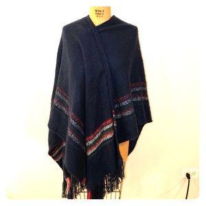 Free People Acrylic Navajo Blanket Wrap Scarf OS